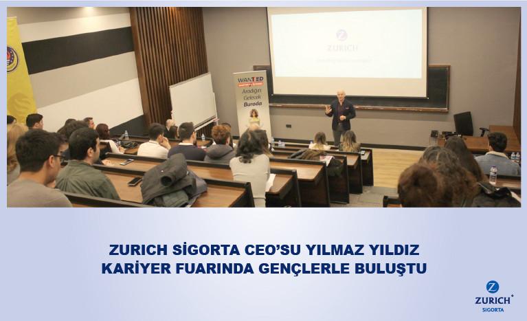 Zurich Sigorta CEO'su Yılmaz Yıldız WanTED Kariyer Ve İş Fuarı'nda Gençlerle Bir Araya Geldi