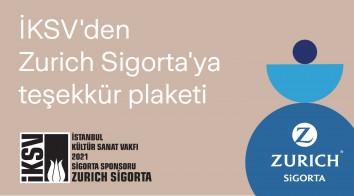 İKSV'den Zurich Sigorta'ya Teşekkür Plaketi
